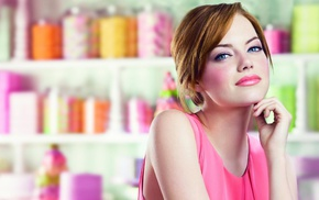 blue eyes, Emma Stone, redhead