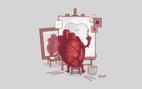 threadless, hearts, humor, digital art, triple self portrait