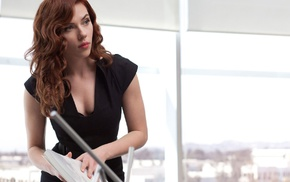 Iron Man 2, Black Widow, redhead, brunette, Scarlett Johansson, girl