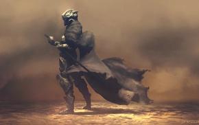 воин, броня, меч