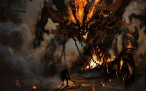 fantasy art, demon