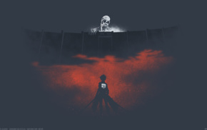 minimalism, Shingeki no Kyojin, anime, Colossal Titan, anime vectors