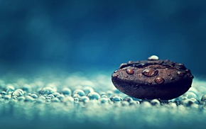relaxing, water drops, coffee beans, relaxation, macro