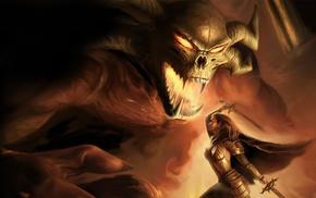 демон, фантастическое исскуство, воин