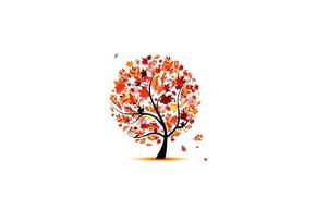 деревья, векторы, просто, произведение искусства