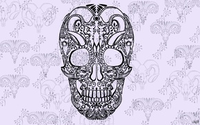 skull, artwork, Sugar Skull