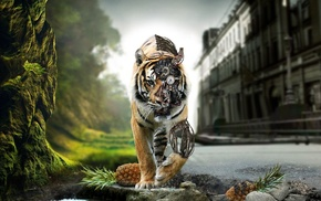 animals, fantasy art, tiger