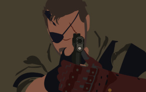 Metal Gear Solid V The Phantom Pain, Big Boss, minimalism, Metal Gear Solid, vectors, Metal Gear