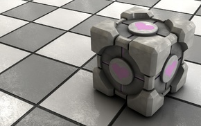 Portal, video games, Companion Cube