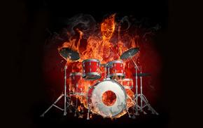 music, flame, skeleton