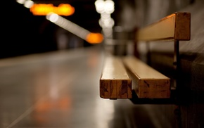 bench, bokeh, depth of field