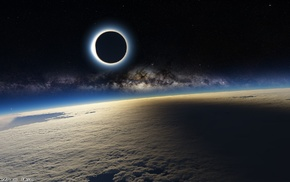 photography, solar eclipse, Earth, space