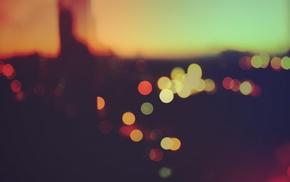bokeh, macro, sunset
