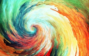 abstract, spiral, painting, anime, colorful