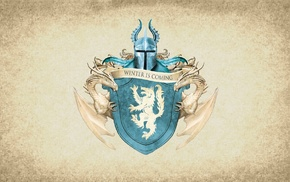 House Stark, paper, Game of Thrones, coats of arms, Winter Is Coming, sigils