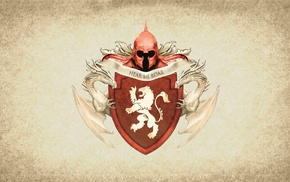 House Lannister, Game of Thrones, coats of arms, paper, artwork, sigils
