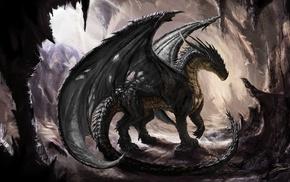 dragon, artwork, fantasy art