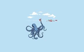 минимализм, юмор, просто, синий