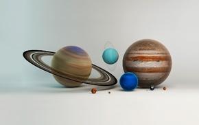 planet, digital art, Solar System, artwork