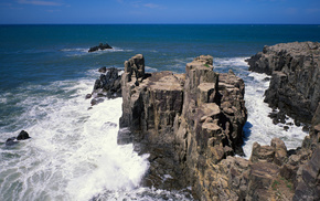 nature, surf, rocks