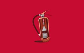 минимализм, юмор, просто, красный