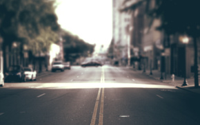 road, sunlight, depth of field, blurred, urban