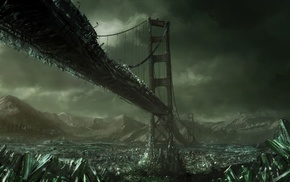 apocalyptic, bridge, San Francisco
