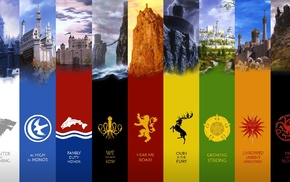 quote, TV, castle, literature, sigils, panels