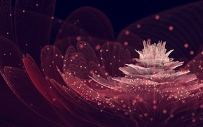 flowers, fractal flowers, abstract