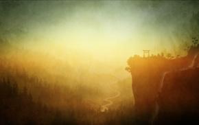произведение искусства, лес