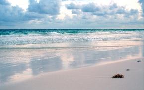 морской прибой, волна, пена, небо, лето, вода