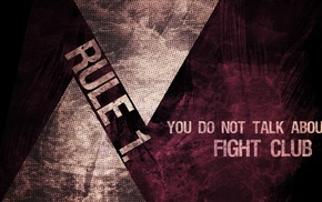 Fight Club, typography, grunge