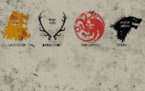 A Song of Ice and Fire, sigils, Game of Thrones, poster