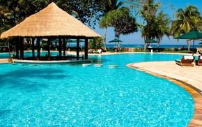 resort, swimming pool, summer, rest, Sun