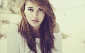filter, redhead, face, girl