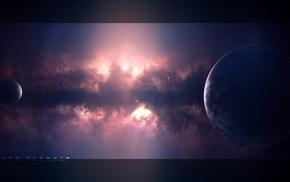 планета, туманность, космос, космический арт