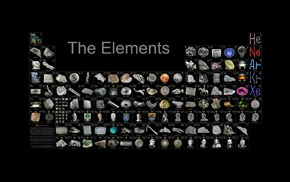black, periodic table, elements