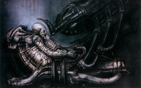 Prometheus movie, Aliens movie, aliens, H. R. Giger, machine