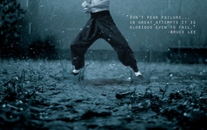 inspirational, rain, quote, gyms, Bruce Lee, kung fu