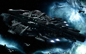 EVE Online, space, spaceship, science fiction, Gallente