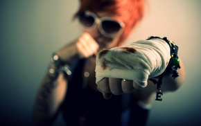 redhead, boxing, girl
