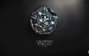 Game of Thrones, digital art, sigils, A Song of Ice and Fire, House Tyrell