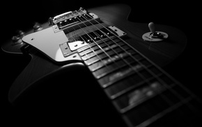 dark, guitar, Les paul