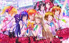 Kousaka Honoka, Koizumi Hanayo, Hoshizora Rin, Minami Kotori, Ayase Eri, anime girls
