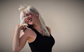 blonde, smiling, girl, Devon Jade