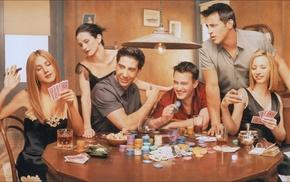 Rachel Green, Joey Tribbiani, Friends TV series, Ross Geller, Monica Geller, cards