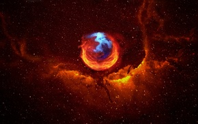 Mozilla Firefox, abstract, space