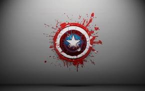 artwork, superhero, Captain America, minimalism