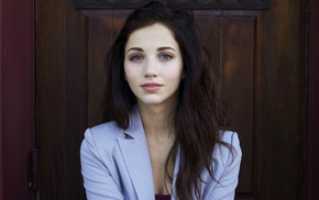 model, Emily Rudd, face, blue eyes, girl, brunette