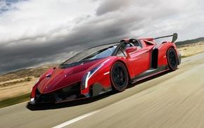 red cars, car, Lamborghini Veneno, Lamborghini, Veneno